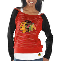 Chicago Blackhawks Womens Holy Long Sleeve T-Shirt and Tank Top - Red/Black