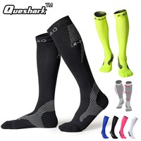 Athletic Compression Muscle Long Cycling Socks Running Marathon Football Stockings Men Women Riding Bike Leg Sleeve Sports Socks