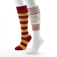 Harry Potter 2-pk. Gryffindor Striped Knee-High Lurex Socks