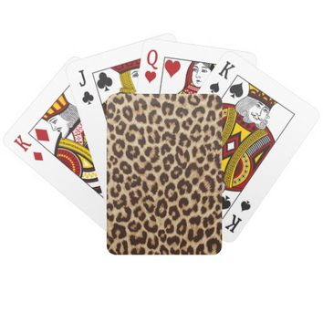Leopard Print Classic Playing Cards