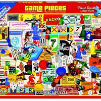 GAME PIECES - 1000 Piece Jigsaw Puzzle