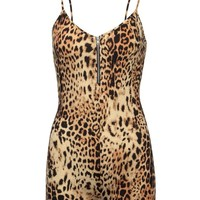 Rebel Girl Leopard Print Jumpsuit Romper