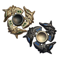 New golden dragon Fidget spinner Zinc alloy Metal rotary EDC hand spinner for autism and ADHD Focus Stress Fingertip gyro