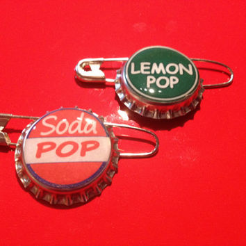 Ellie Inspired Soda Pop Bottlecap Pins 2 Pack Set Disney Pixar Up