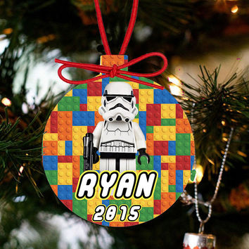 Personalized Christmas LEGO Ornament - Lego Movie Character Stormtrooper