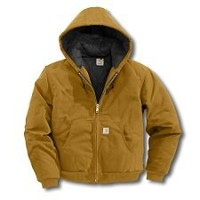 Carhartt Men's Duck Active Jacket Quilted Flannel Lined Size Large