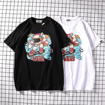 Gradient Short Sleeve Summer Print Alphabet Casual T-shirts [1276624437284]