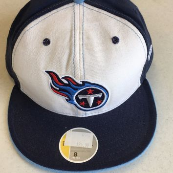 TENNESSEE TITANS RETRO NEW ERA  5950 NAVY W/ WHITE FRONT PANEL FITTED HAT