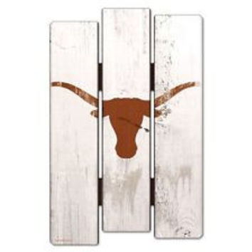 Texas Longhorns Wood Fence Sign