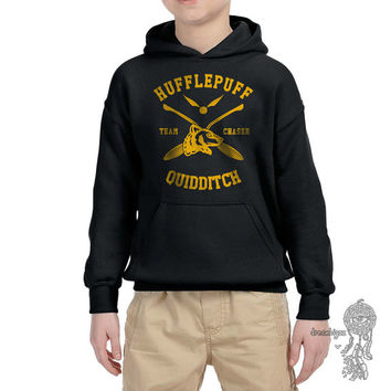 CHASER - Hufflepuff Quidditch team Chaser printed on YOUTH / KIDS Hoodie