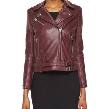 Jone Lambskin Leather Jacket,