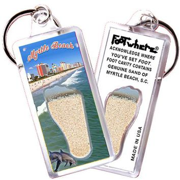 Myrtle Beach FootWhere® Souvenir Key Chain. Made in USA