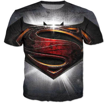Classic Hero Batman vs Superman 3D Tshirt