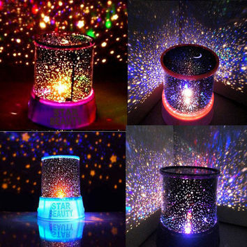 Crystal Romatic Gift Cosmos Star Sky Master Projector Starry Night Light Lamp