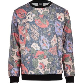 River Island MensRed New Love Club print sweatshirt