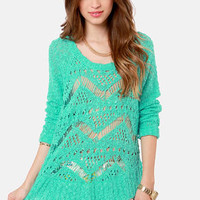 O'Neill Cape Town Sea Green Knit Sweater