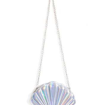 Seashell Hologram Crossbody Bag