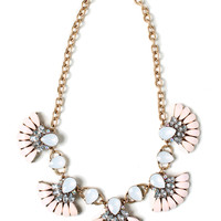 Pearly Lights Bib Necklace