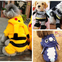 Pet DOG puppy Costume superman/Batman/ Rabbit//frog/pikachu Cosplay outfit