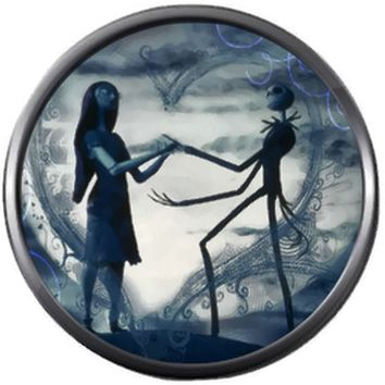 Smokey Grey Jack And Sally In Love Nightmare Before Christmas Jack Skellington 18MM - 20MM Charm for Snap Jewelry New Item