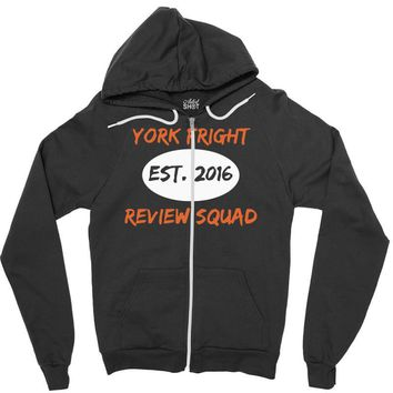 york fright review squad Zipper Hoodie