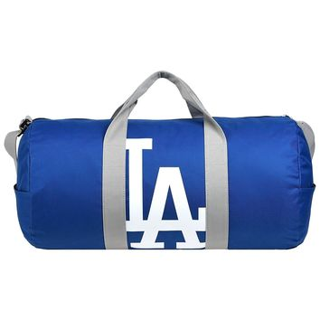 MLB LOS ANGELES DODGERS VESSEL BARREL DUFFLE GYM BAG NEW 2017 TRAVEL LUGGAGE