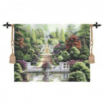 Fine Art Tapestries Rose Garden I Tapestry - Betsy Brown - 2055-WH - All Wall Art - Wall Art & Coverings - Decor