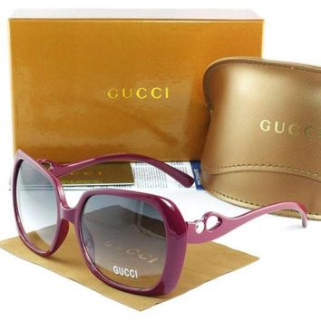 Gucci Stylish Women Men Casual Sun Shades Eyeglasses Glasses Light Purple Frame I