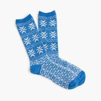 J.Crew Womens Fair Isle Trouser Socks