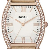 Fossil Wallace Leather Watch Sand Es3108