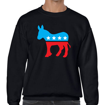 Democratic party Donkey elections men sweatshirt