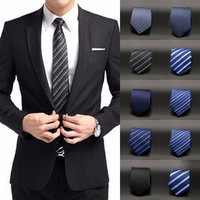 Men's Solid Narrow Skinny Tie