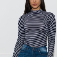 Sussy Striped Top -  Navy/Off white