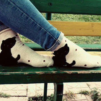 cute cat funny socks, orthopedic socks, for her