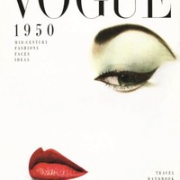 Vogue 1950 Magazine Cover Art Print / Poster Fashion Beauty