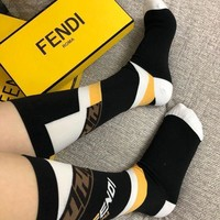 Fendi Stitching alphabetic socks