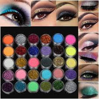 30 Colors 1 Set Glitter Spangle Eye Shadow Powder Pigment Kit Makeup Cosmetic Tool