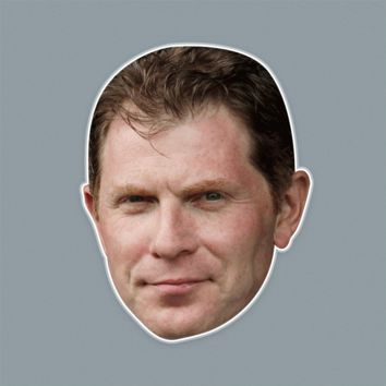 Disgusted Angry Bobby Flay Mask - Perfect for Halloween, Costume Party Mask, Masquerades, Parties, Festivals, Concerts - Jumbo Size Waterproof Laminated Mask