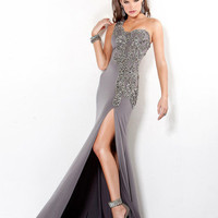 Jovani 1285 Grey Embellished Prom Dress Formal Gown Sz 0 to 14 NEVER UNDERSOLD!