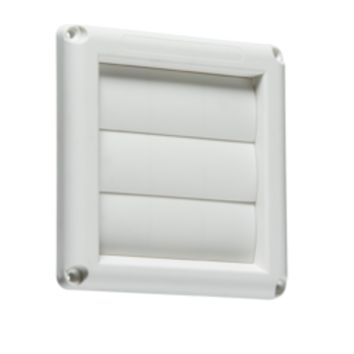 "KB EX007W 100MM/4"" GRAVITY SHUTTER - WHITE"