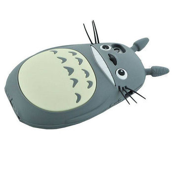 New style 3D Cartoon Totoro cat soft silicon cute cover back phone case for iPhone 5 5s