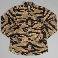 js homestead - the hill side cpo shirt tiger camouflage