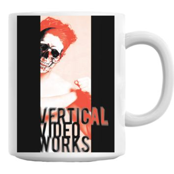 Skull Vertical Video Works Coffee Mug Cup 11 Oz
