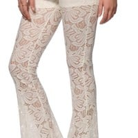 Almost Famous Esmeralda Lace Flared Pants