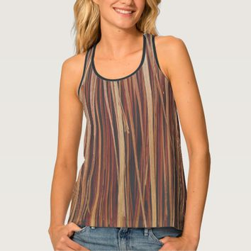 Patterned background hay tank top