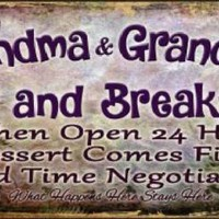 Grandma Grandpas Bed and Breakfast  Truck License Plate Tag