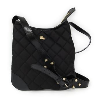 Burberry Quilting Women's Nylon Leather Shoulder Bag Black BF310511