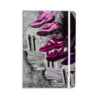 "Theresa Giolzetti ""Shoes in SF"" Gray Purple Everything Notebook"