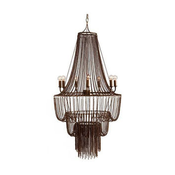 Maxim Iron Beaded Chandelier