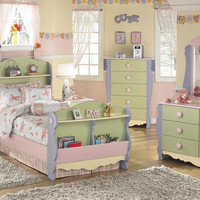 Blossom Twin Size Sleigh Bed